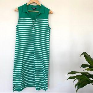 Lands End striped polo dress